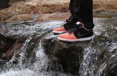 These 'Fish Ladder' Skate Sneakers Feature a Salmon-Colored Design