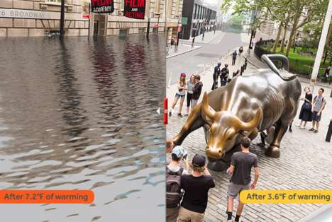 Rising Sea Level Photos - These Images Predict How the World Will Look If Climate Change Continues