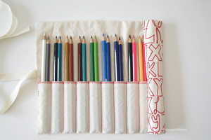 These Fabric Pencil Rolls are Convenient and Affordable