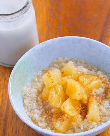 Fruity Quinoa Breakfast Bowls - This Sweet Breakfast Dish Mimics the Taste of Apple Pie
