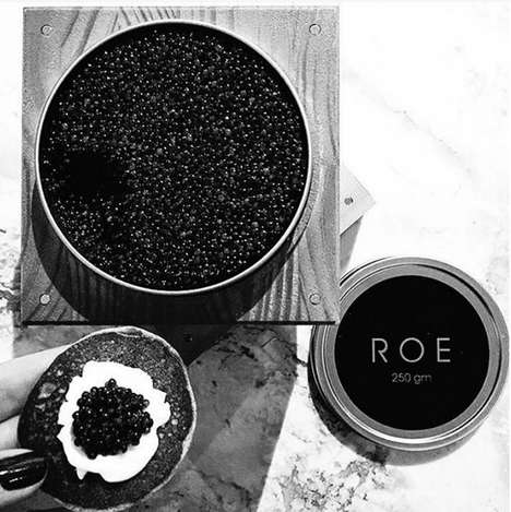 Sustainable Premium Caviar - Roe Caviar is a New Brand of Seasonally Available Caviar