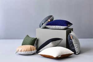The 'ni.ni.creative' Minimalist Leather Pillows Pair Cozy & Stylish Fabrics