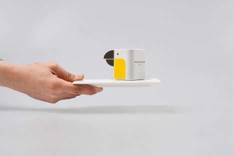 Wild Bird Cups - These Minimal and Stackable Coffee Cups are Inspired by Brazilian Parrots