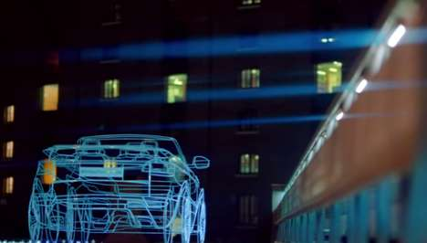 Sun-Projecting Car Campaigns - A Projection of the Sun Was Used to Promote Land Rover's New Evoque