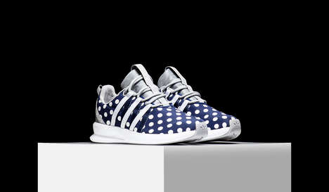 Spotted Statement Sneakers - The adidas 'Sl Loop Racer' Model Boasts a Polka Dot Sneaker Pattern