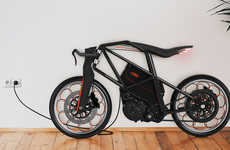 Urban Ion Motorcycles - This Motorized Bicycle is Environmentally Friendly with its Electric Design