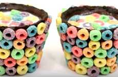 Cereal Cookie Shooters - These Chocolate Shot Glasses are Covered in Oreo Cookies and Froot Loops