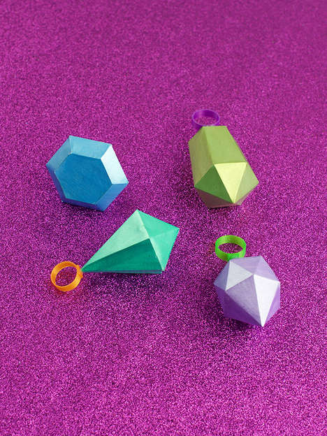 Handmade Gemstone RIngs - These Modular Jewelry Pieces are Made by Hand Using 3D Printing