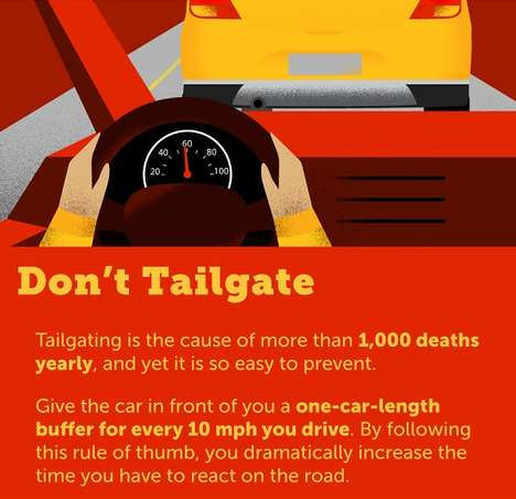 Driving Etiquette Guides - This Infographic Shares How to be a Thoughtful Driver on the Road