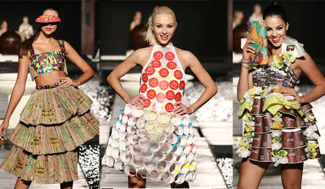 Upcycled Fast Food Fashions - The McDCouture Line Features 20 Dresses Made from McDonald's Wrappers