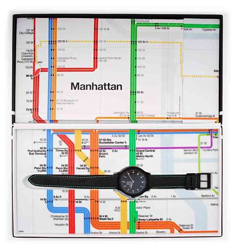 Subway-Centric Watches - The Mondaine Helvetica Collection Pays Tribute to the New York Subway
