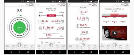 Mileage Tracking Driving Apps - Audi's New App Allows Users to Calculate the Cost of Business Travel