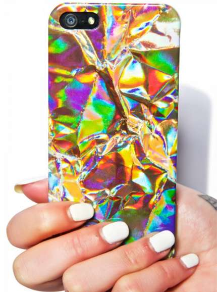 Deceiving Foil Phone Cases - Local Heroes' Holographic Foil iPhone 5 Case Looks Like a Candy Wrapper
