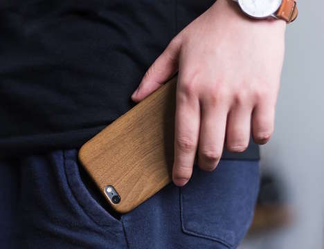 Faux Wood Smartphone Protectors - The Satechi Ultra Slim Wood Pattern iPhone Case Adds Minimal Bulk