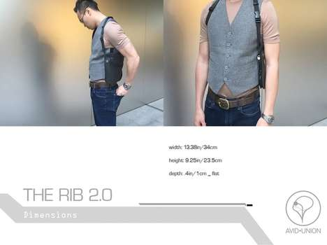RFID-Blocking Vests - The Avid Union 'Rib 2.0' Vest Holster is Designed to Safely Carry Your Stuff