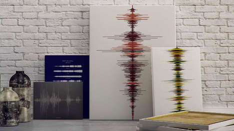 Custom Sound Wave Keepsakes - Soundwave Art Turns Your Voice into a Romantic Present for Him or Her