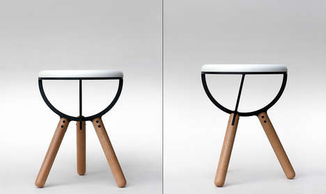 Quantum Mechanic Seating - This Stool is Inspired by the Structure of Subatomic Particles