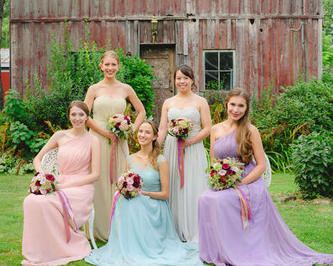 Custom Bridesmaid Dresses - 'Pastel Dress Party' Allows Bridesmaids to Add a Strap, Slit or Length