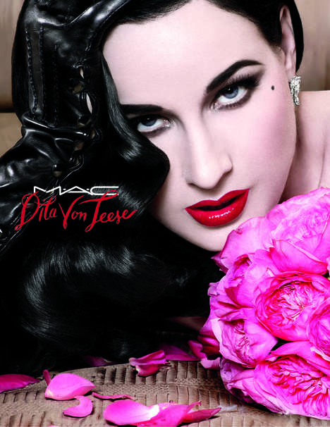Scarlet Burlesque Lipstick Collaborations - Dita Von Teese Designs the Ultimate Red Color