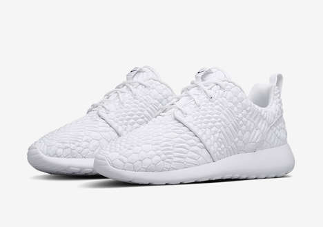 White Snakeskin Sneakers - These Nike Shoes Feature a Realistic Snakeskin Pattern
