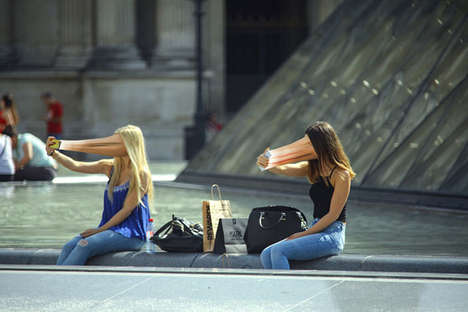 Technology-Obsessed Photography - Antoine Geiger's Photos Show Phones Sucking People's Souls