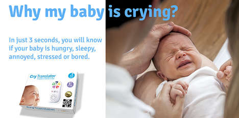 Sobbing Infant Translators - The 'Cry Translator' Determines What a Baby's Cry Means