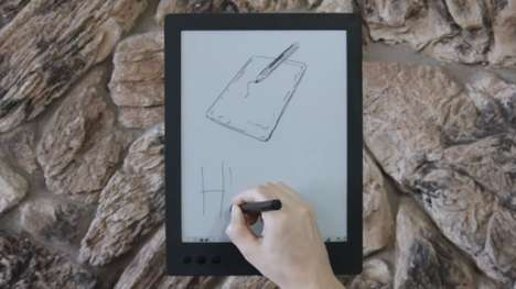Oversized Digital Notepads - The Noteslate HERO E Ink Writing Tablet is Designed to be 13-Inches