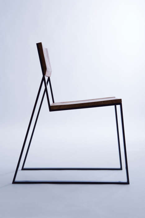 Dynamic Contrasting Chairs - The K1 Designer Seat is Filled with Juxtaposing Materials and Elements
