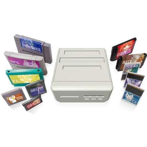 Multi-Cartridge Consoles - This Retro Gaming Console Plays Cartridges from 11 Different Game Systems
