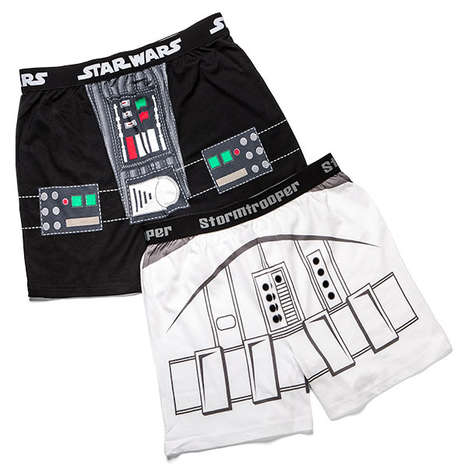 Geeky Sci-Fi Underwear - These Star Wars Costume Boxers are Ideal for Supporters of the Empire
