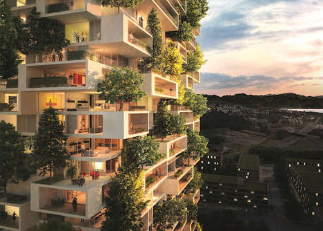 Vertical Forest Buildings - Stefano Boeri Designs a Living Green Tower in Switzerland