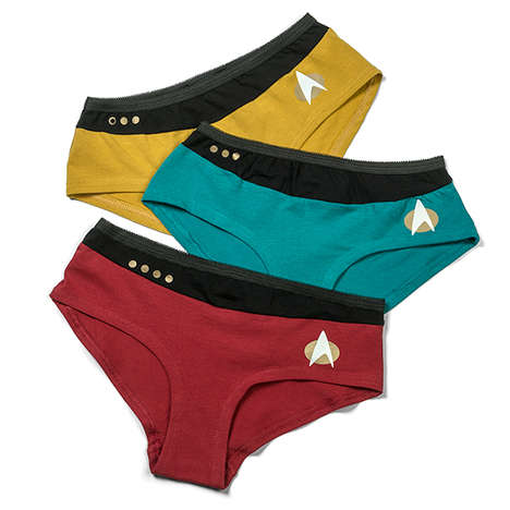 Sci-Fi Unmentionables - These Star Trek Uniform Panties Let You Secret Dress for the Enterprise
