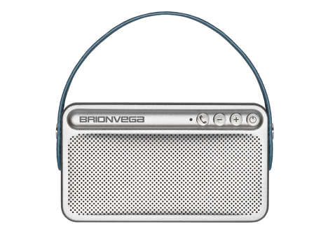 Portable Vintage Speakers - This High Quality Portable Speaker is Shaped Like a Retro Handheld Radio