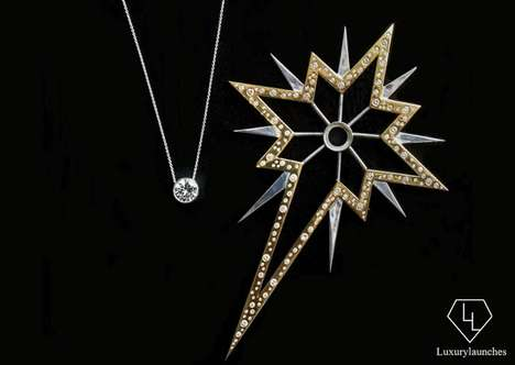 Opulent Tree Toppers - This Fancy Christmas Tree Star is Studded with Diamonds