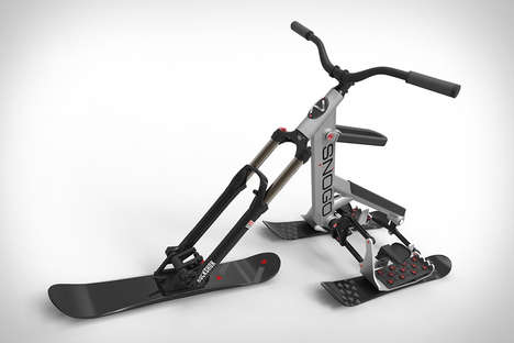 Articulating Ski Bikes - The 'Snogo' Bike Features Three Skis and Articulates a Rider's Movements