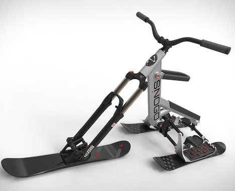 Articulating Ski Bikes