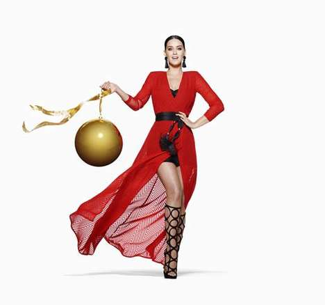 Star-Studded Holiday Campaigns - The New H&M Holiday Campaign Features Singer Katy Perry