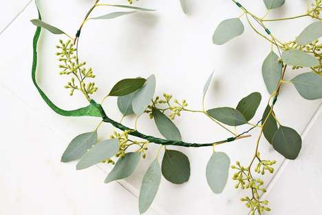 Wintery Eucalyptus Wreathes - These DIY Hair Garlands Give Off a Refreshing Minty Scent
