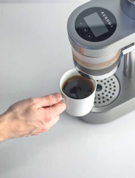 Smart Coffee Machines - The Auroma One is a Machine That Promises to Brew the Perfect Cup
