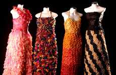 Dress Made of Condoms for AIDS Charity