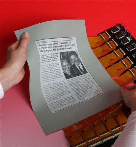 Flexible SVGA Display - Plastic Logic's E-Paper