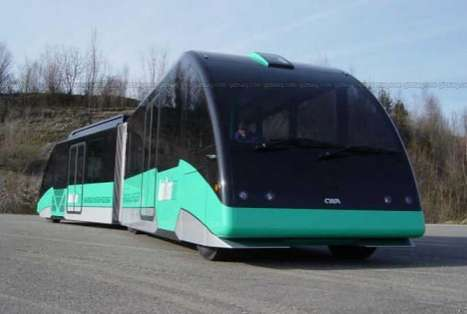 Dual Mode AutoTram - Runs on Rails or Roads