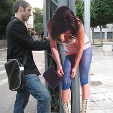 Fake Prostitutes - Cardboard Cut-Outs Make Neighbourhood Statement in Tel Aviv