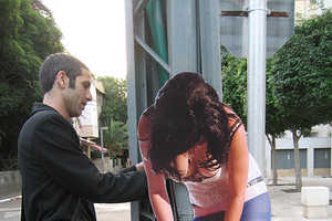 Cardboard Cut-Outs Make Neighbourhood Statement in Tel Aviv