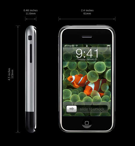 Apple iPhone Revealed - iPod + Phone + Internet + No Buttons!