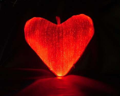 Fiber Optic Heart Cushions - Geek it Up This Valentine's Day