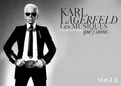 Fashion Icons as Dictionary Designers - Karl Lagerfeld Illustrates 'La Petit Larousse Illustre'