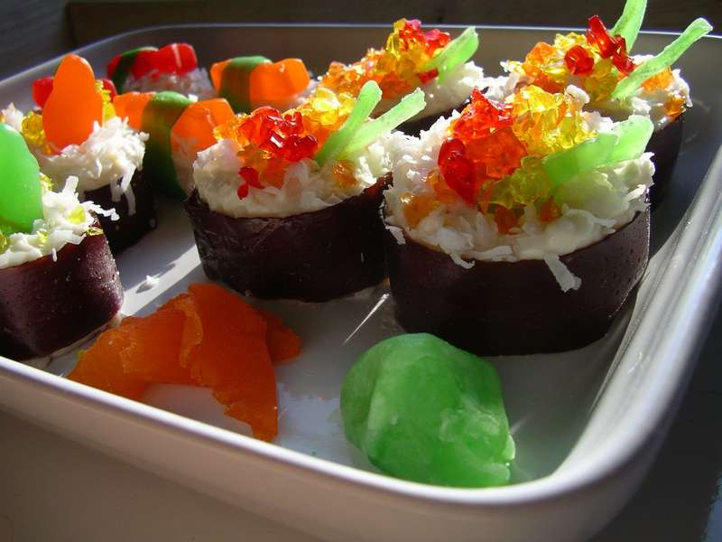 12 sweet sushi confections for Confection cuisine