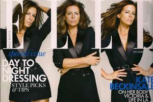 Kate Beckinsale's Menswear-Inspired Cover Look