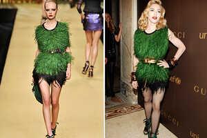 Madonna's Animalistic LV Dress